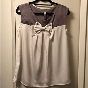 Brand New Two Toned Bow Shirt
